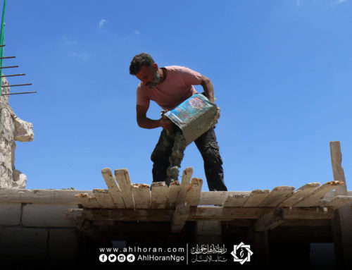 الورشات تبدأ بأعمال الصيانة ضمن مشروع تأهيل 800 منزل